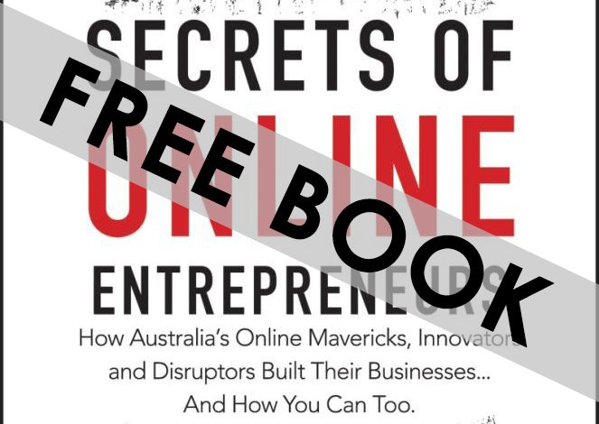 Secrets of Online Entrepreneurs book with FREE BOOK written over the top