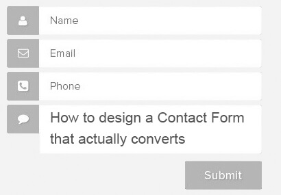 How to design a contact form that actually converts