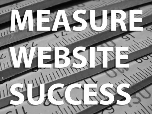 Old fashioned measuring rulers with Measure Website Success written over the top