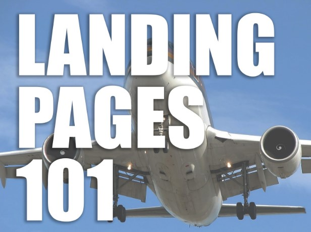 landing pages 101 written over aeroplane